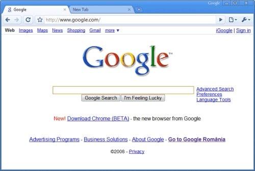 Google Chrome 2008