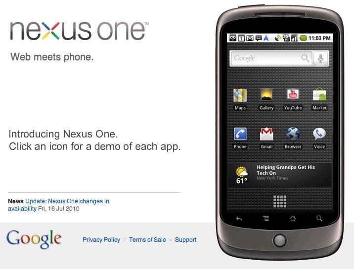 Google Nexus One 2010
